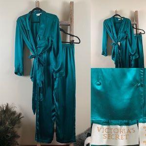 Victoria's Secret Vintage Gold Label Silk Pajamas